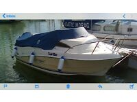 Quicksilver Passport 430 Cabin Mercury 40hp 4/stroke petrol outboard motor and indespension trailer