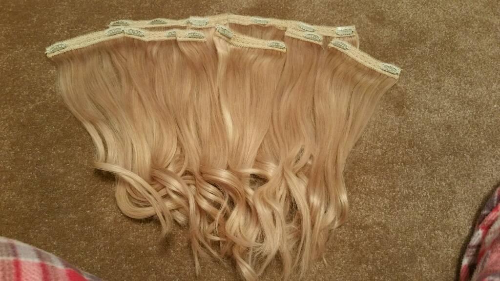 Milk Blush Headkandy Hair Extensions Paparazzi Blonde Triple