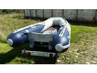 4 meter honwave inflatable boat dinghy sib with trailer and electric pump