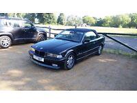 BMW E36 325I 2.5 auto Black Alpina Convertible 1 year MOT Sport Classic car px for e30 e34 e39 e46