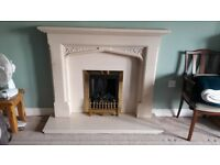 Fire and Surround including Hearth