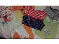 Bundle 3 to 6 Months Baby Girls Clothes, Onesie,Longsleeve Top,Shortsleeve Top