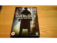 SHERLOCK COMPLETE SERIES 1 AND 2 DVD BOX SET (12)