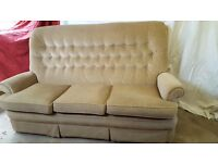 3 seater Parker Knoll Sofa and Armchair