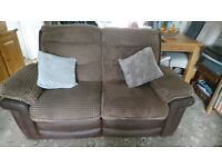 Lounge suite comprising 2 seater & 3/4 seater settee recliner also armchair.