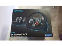Logitech g29 steering wheel and pedals for ps3/ps4