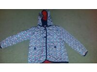 Red White and blue Paisley hooded jacket