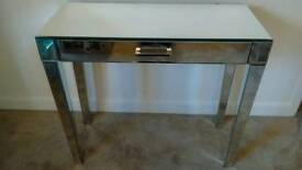 Luxury Zoe Mirrored Glass Dressing/Console Table with drawer