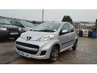 2011 Peugeot 107 1.0cc petrol 5 door hatchback genuine low mileage
