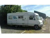 Hymer rare r.h.d motorhome, fixed end bed.