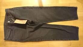 Brand New Size 12 Mens Black/Grey Jeans,