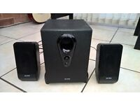 Multimedia TV PC Laptop Speakers with Subwoofer