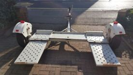 Car towing recovery dolly