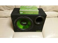 CAR ACTIVE SUBWOOFER FUSION 1000 WATT 12 INCH SPEAKER WITH AMPLIFIER IN PORTED BASS BOX AND AMP
