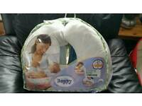 Boppy feeding pillow with cover - like new