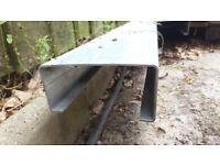 Galvanised steel C-purlins 140x65mm (metal beams)