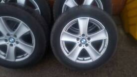 """Bmw 18""""Alloy wheels with nearly new tyres"""