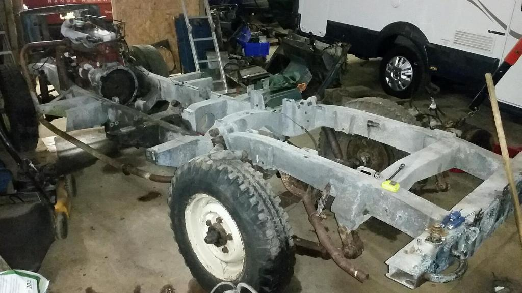 Land Rover Series 109 Galvanised Rolling Chassis In