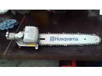 Husqvarna chain saw attachment for pole saw