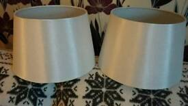 Brand new lamp shades in white