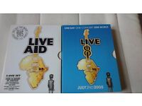 Live Aid 1985 and Live 8 2005 Music Concert DVD'S