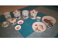 collection of royal worcester pottery, various items