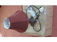 Ancient design Electric Lamp in Burgundy Type Colour with New Bulb