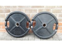 20KG CAST IRON RUBBER ENCASED OLYMPIC WEIGHT PLATES