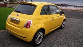 2008 FIAT 500 SPORT 1.4 IN TROPICALIA YELLOW 100HP 16V 6 SPEED WITH ITALIAN LEATHER