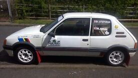 Peugeot 205 1.6 GTi Forest/Gravel spec Rally Car & Spare's Package
