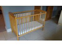 Baby's Cot Bed & Mattress