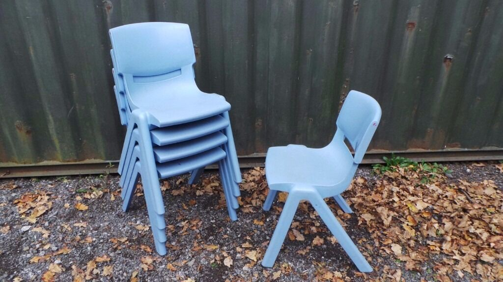 Large Quantity of Infants School Stacking Plastic Chairs - Collection Only from Porthcawl CF33