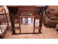 Antique Mirror with shelves.
