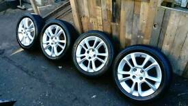 "Vauxhall Corsa D SXi original 16"" silver alloys with 4 excellent tyres"