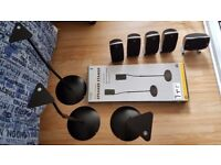 Logitech Z5500 - 5xspeakers only (without woofer) *Excellent condition!* + 4 speaker stands