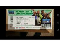 Quarter final darts ticket