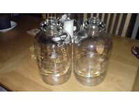 8 x Demijohns for sale. 4.5 litres, glass, wedding decoration, ale/bear brewing