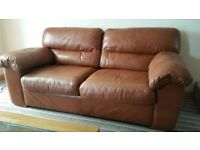 Marks&Spencer three seater leather sofa and two chairs