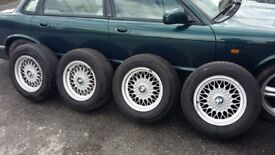 ALLOYS WHEELS WITH TYRES - BMW 520I E34