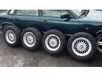 ALLOYS WHEELS WITH TYRES - BMW 520I E34