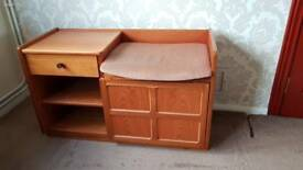 Telephone seat, cupboard & drawer