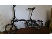 3 speed brompton folding bike good condition been recently serviced bargain