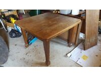 Antique wooden dining table Maybe Oak or Elm Extending