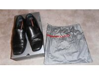 Mens Prada Black Rubber Sole Venetian Loafers Size 7