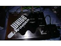 White finger electro-harmonix bass compressor