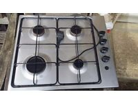 Stainless steel gas hob