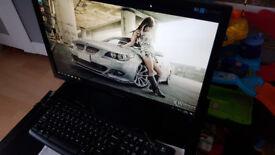 Desktop PC Monitor Samsung 22 speakar subwoofer free HP printer