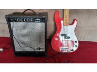 Horner Bass Guitar and Marlin Bass 15 amp.
