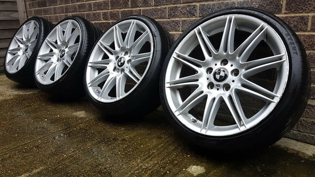 genuine staggered 19 bmw mv4 alloy wheels with tyres e36 e46 e90 e91 e92 3 series style 225. Black Bedroom Furniture Sets. Home Design Ideas