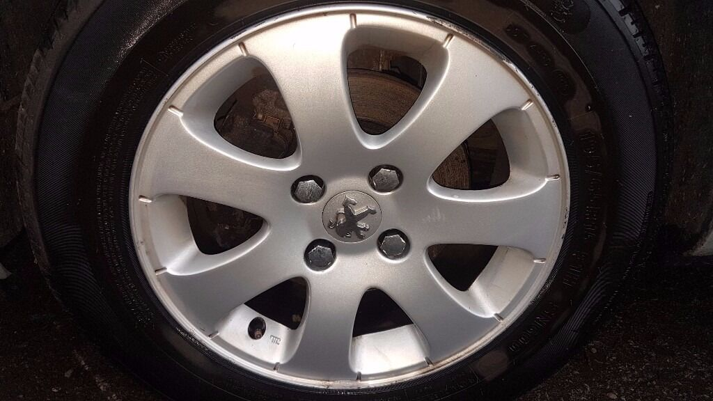 Peugeot 307 2006 Alloy Wheels & Tyres 195/65/R15 - May Fit Other Peugeots